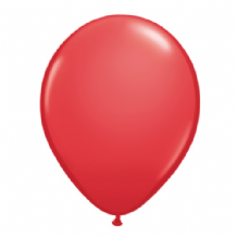 "Qualatex 11 inch Balloons - Red 11"" Balloons (Standard 25pcs)"